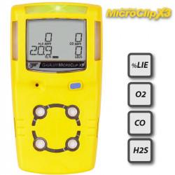 Détecteur 4 gaz Microclip X3