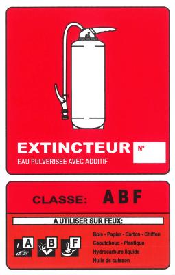 PANNEAU EXTINCTEUR ABF